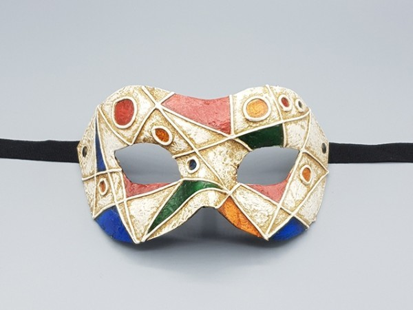 Art deco style mask in multi-color