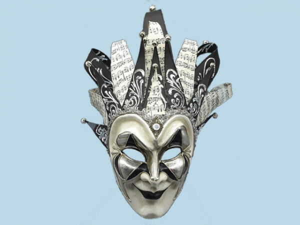 Black Venetian Joker mask boris brejcha