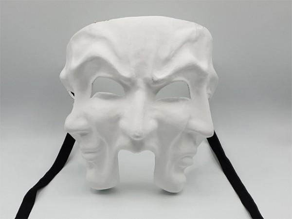 Blanco Theatermasker mit drei Gesichtern