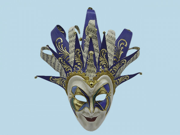 Venezianische Joker-Maske in Blau boris brejcha #bluevenetianjokermask