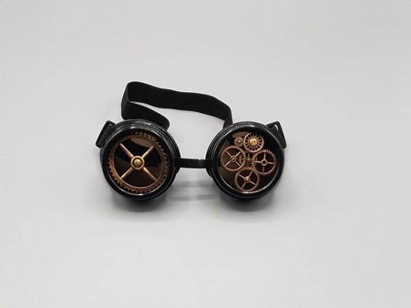 Industrial steampunk goggle, black colored