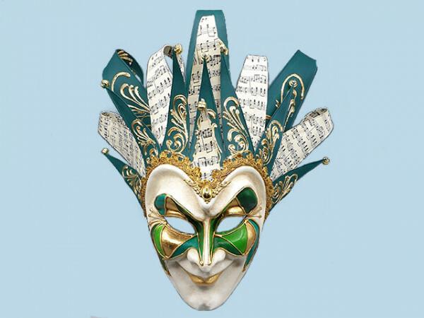 Venezianische Joker-Maske in Grün, boris brejcha