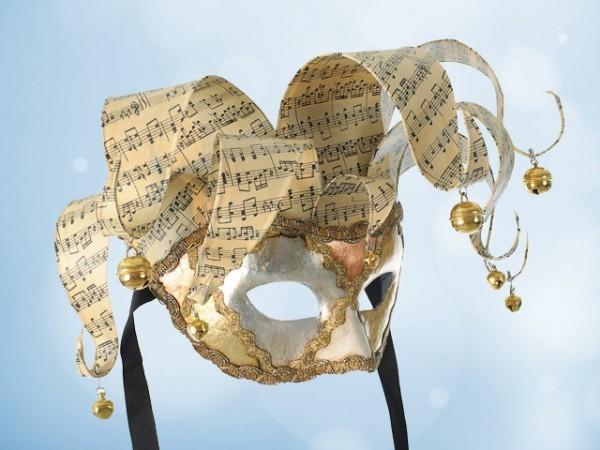 Venezianische Jolly-Maske in Gold