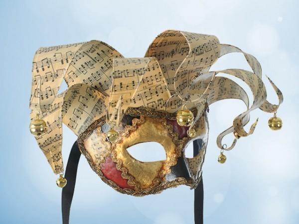 Venezianische Jolly-Maske in Rot