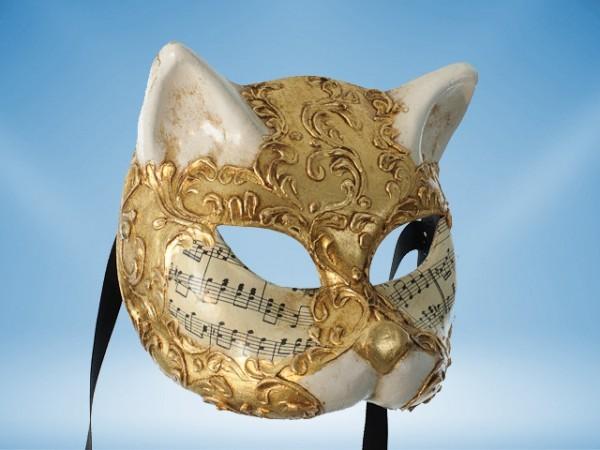 Maske einer venezianischen Katze