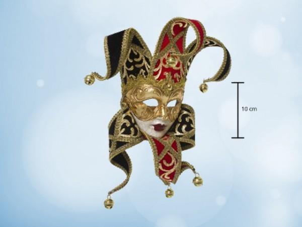 Venezianische Narrenmaske (Jester) in Miniatur