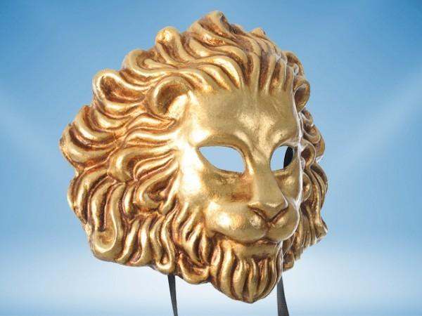 Maske eines goldenen Löwen