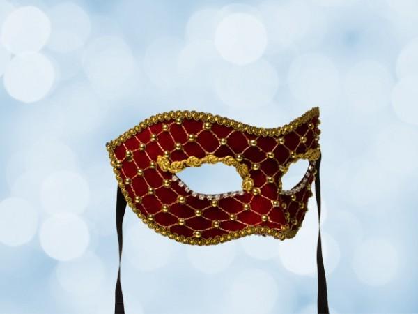 Gala-Maske aus rotem Samt