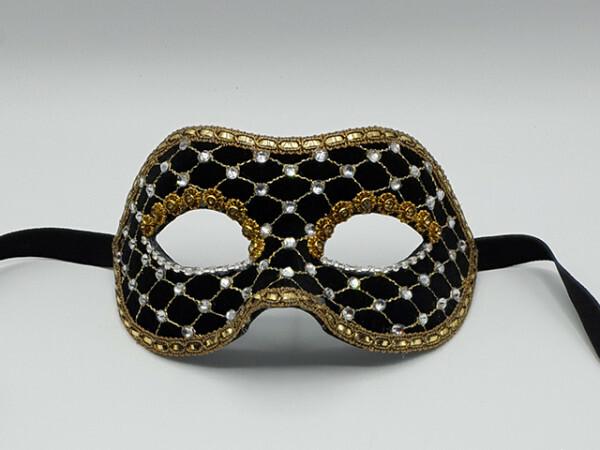 Gala-Maske aus schwarzem Samt