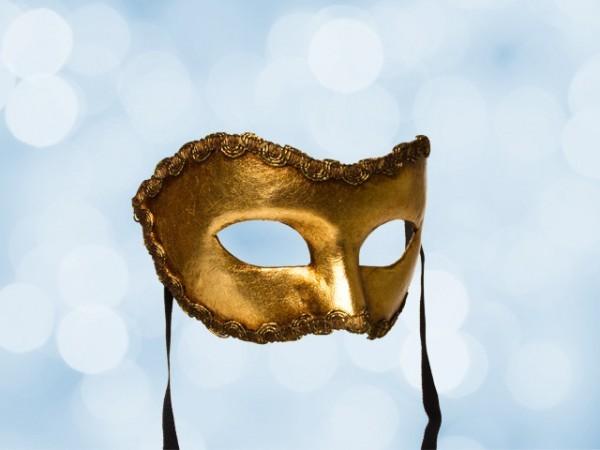 Goldene Party-Maske