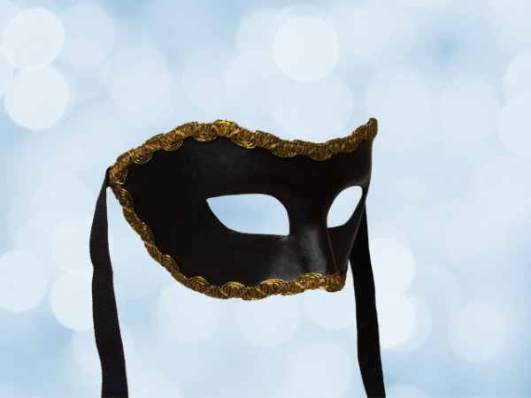 Schwarze Party-Maske