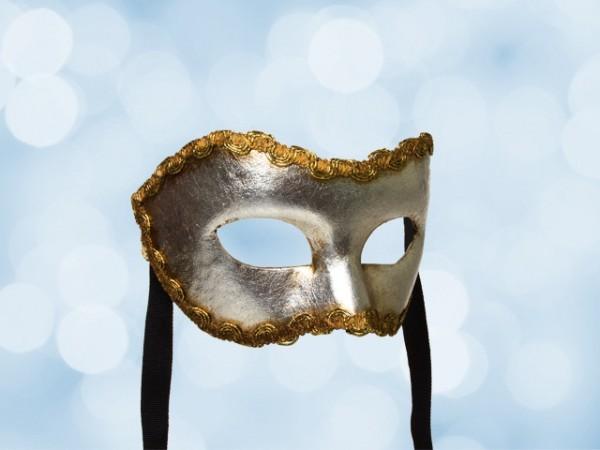 Silberne Party-Maske