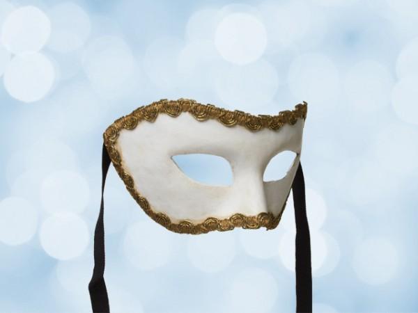 Weiße Party-Maske