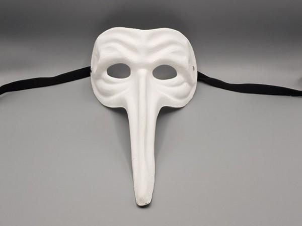Blanco Maske von Pappmaché des Il Capitano aus der Commedia dell'arte