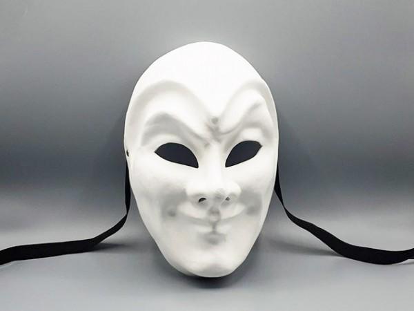 Blanco Maske eines Jokers