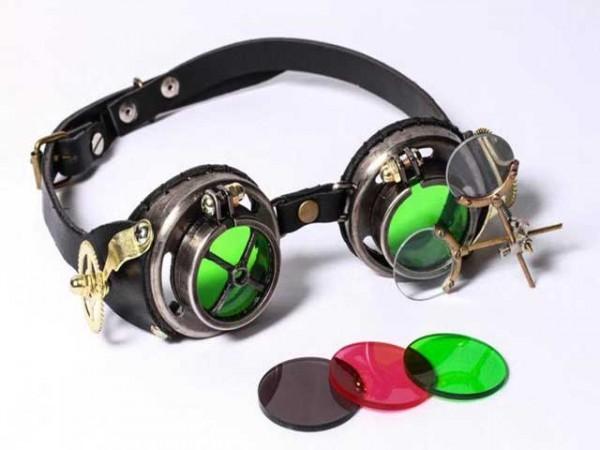"""Steampunk Goggles """"Magisches Glas"""""""
