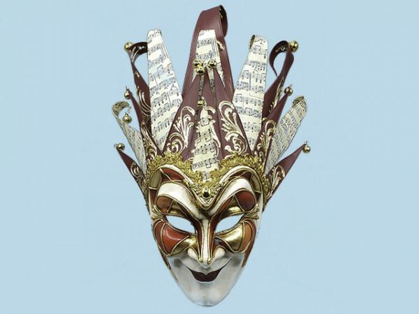 Venezianische Joker-Maske in Rot