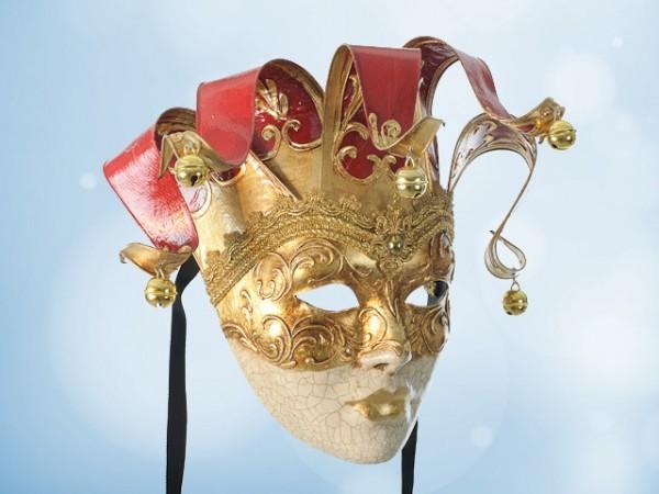 Dekorative venezianische Maske in Rot