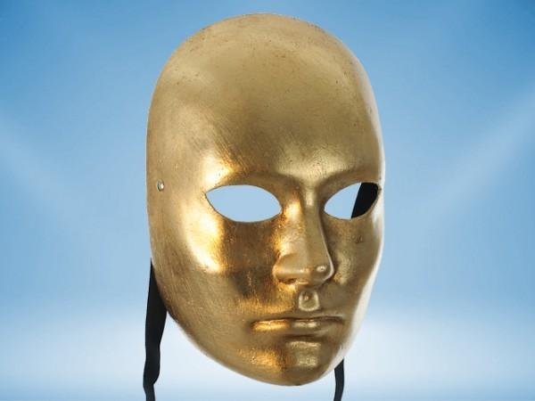 Goldene Vollgesichtsmaske
